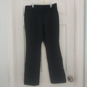 Navy blue modern fit womens trousers